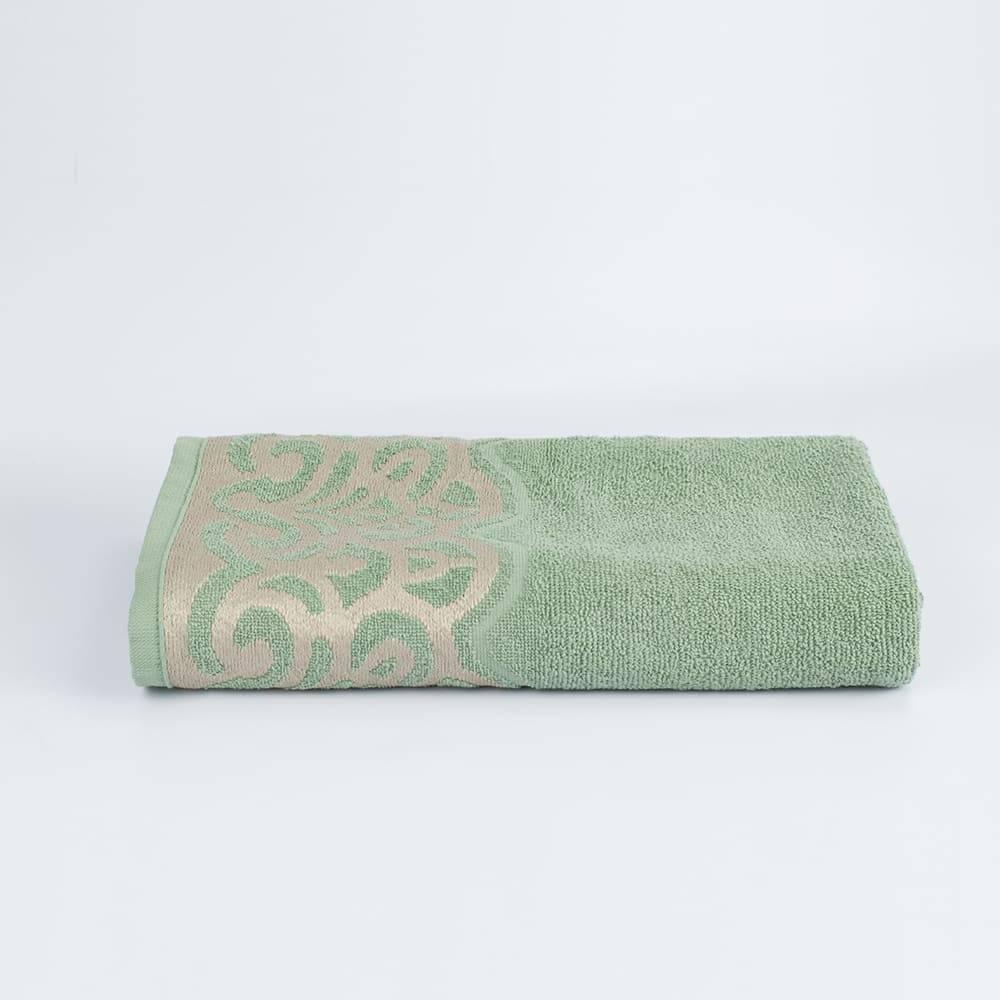 Toalha Banho Jacquard Verde Donatella 100% algodão - LM