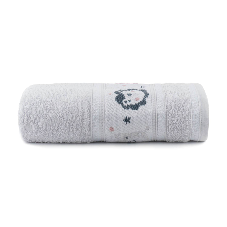 Toalha de Banho Infantil Puppy Cinza - Dianneli