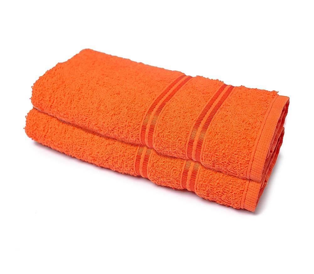 Toalha de Rosto para Academia 25 cm x 85 cm 2 Peças - Laranja