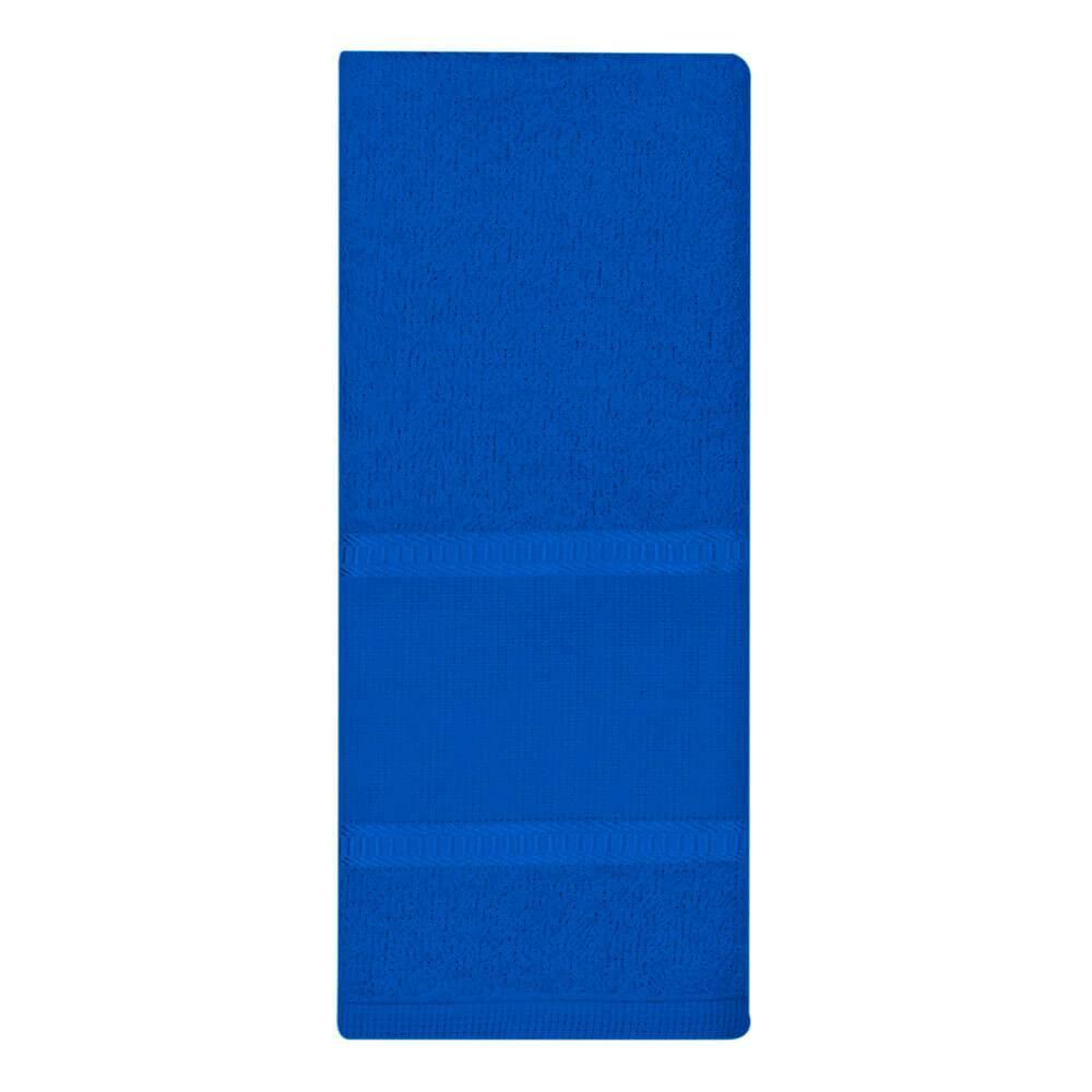 Toalha Lavabo Luíza com Barra para Pintura Azul