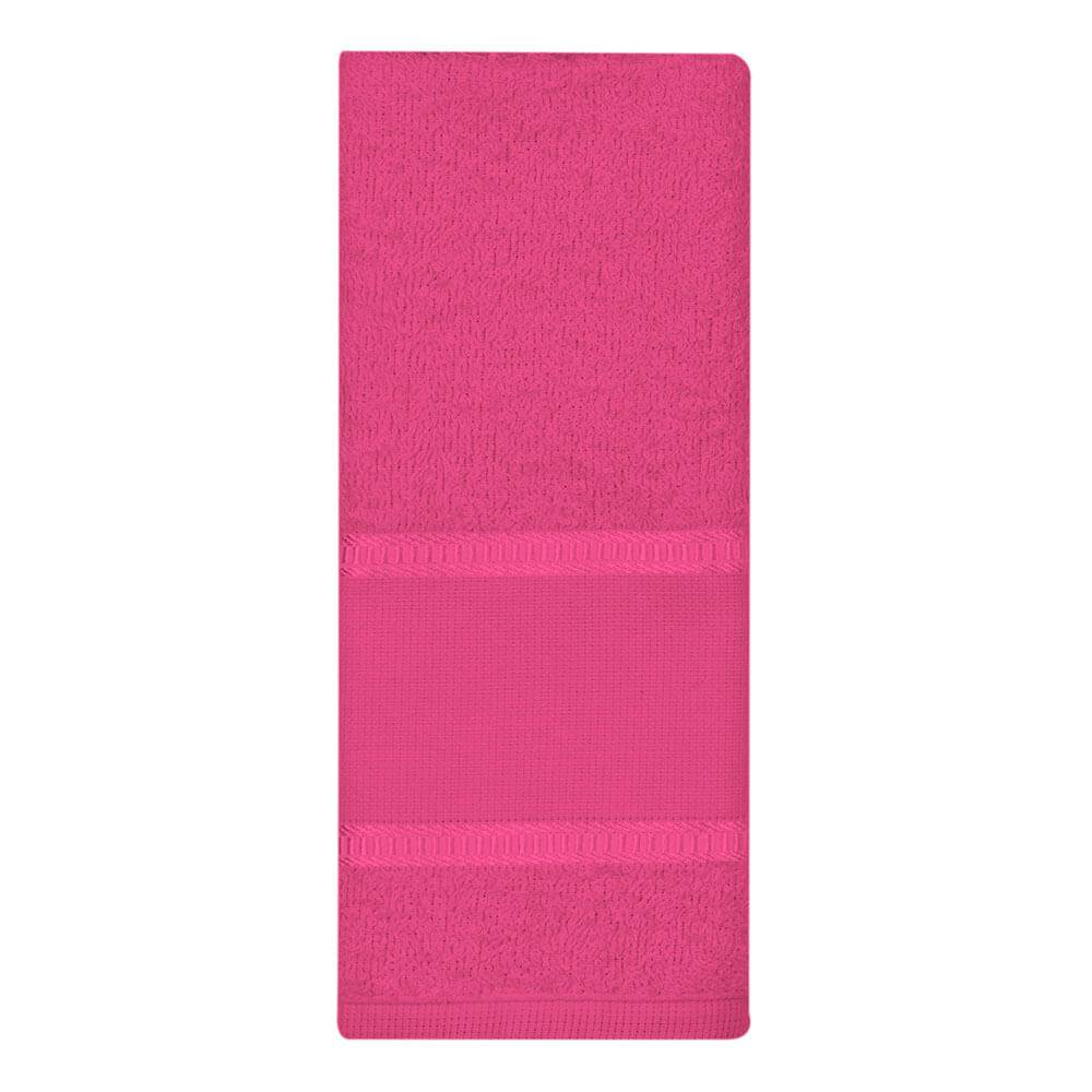 Toalha Lavabo Luíza com Barra para Pintura Pink