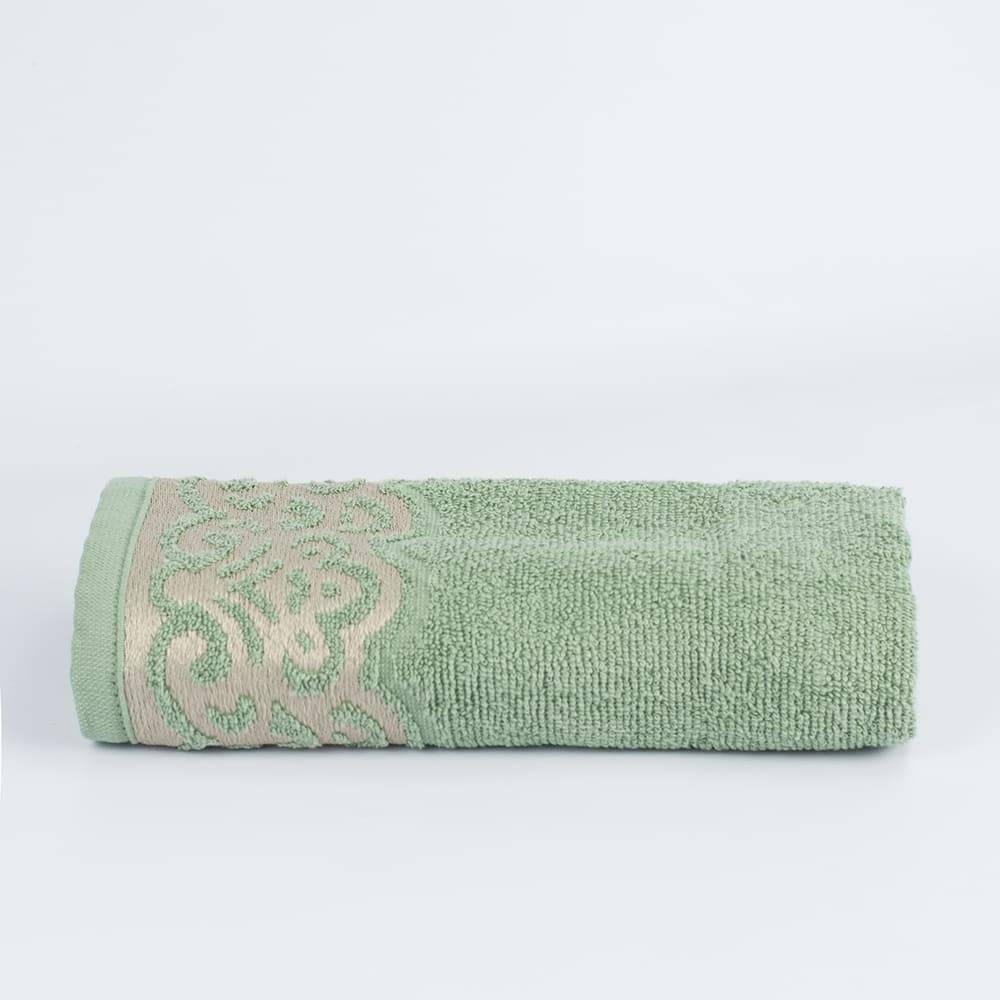 Toalha Rosto Jacquard Verde Donatella 100% algodão - LM