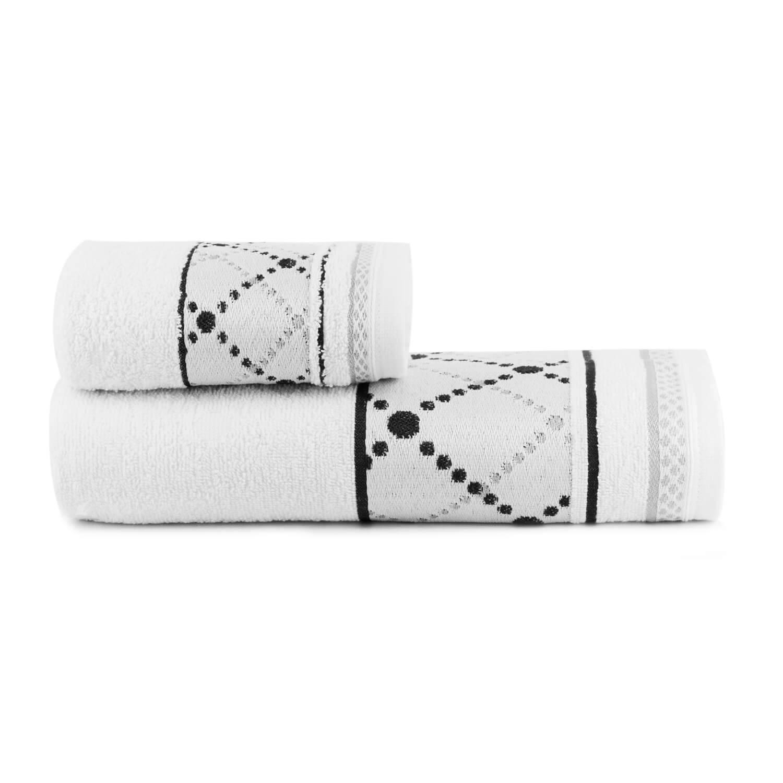 Toalhas de Banho Boss Jogo com 2 Peças Branco - Dianneli