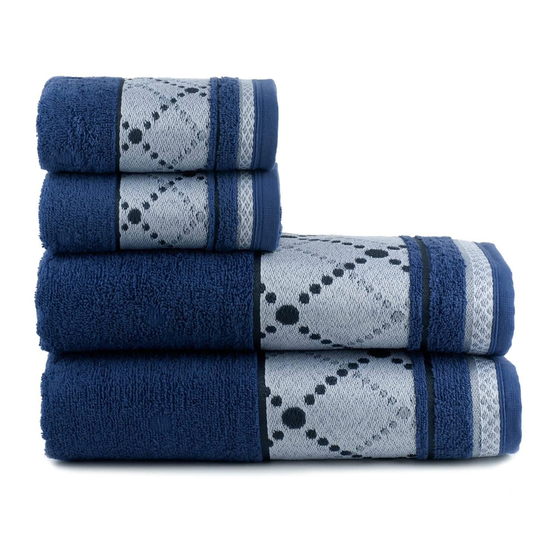 Toalhas de Banho Boss Jogo com 4 Peças Azul - Dianneli