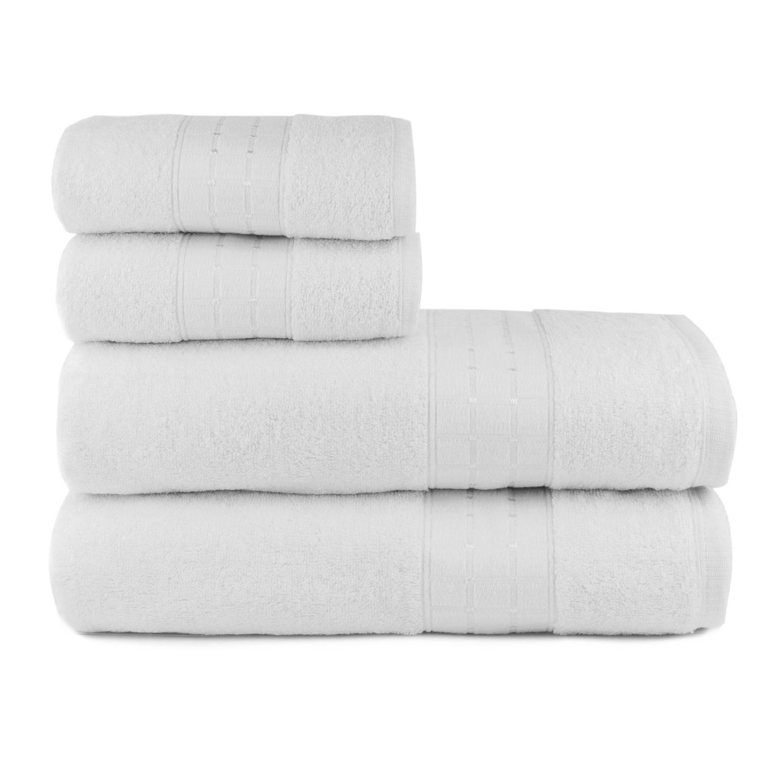 Toalhas de Banho Class Jogo com 4 Peças Branco - Dianneli