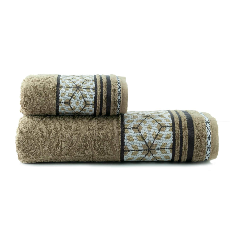 Toalhas de Banho Horus Jogo com 2 Peças Marrom - Dianneli