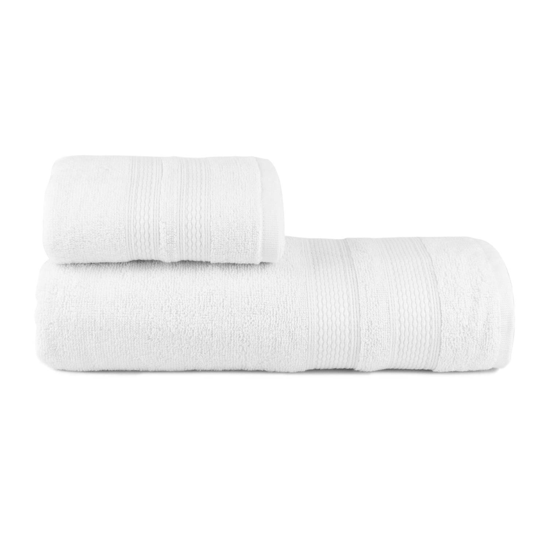 Toalhas de Banho Toscana Jogo com 2 Peças Branco - Dianneli