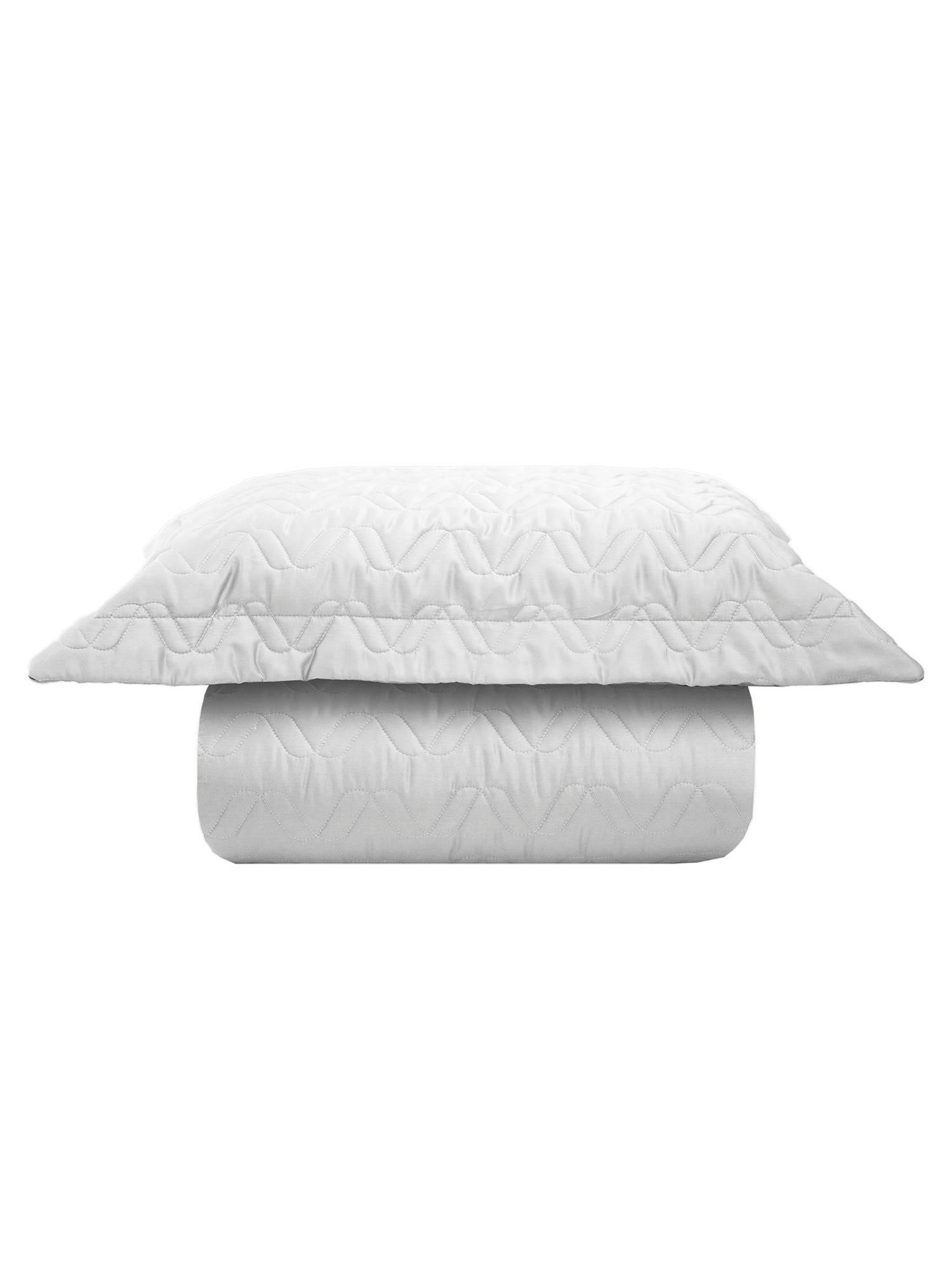 Kit 3 Peças Cobre leito Queen 300 Fios Acetinado Liso Branco + 2 Porta Travesseiros - Satinee Kacyumara