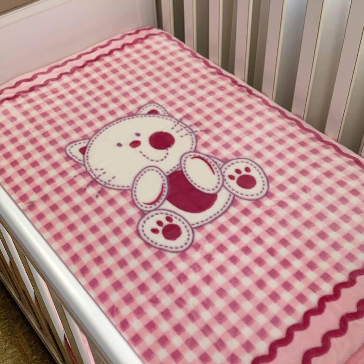 Cobertor Bebê Raschel Ursinha Antialérgico - Corttex