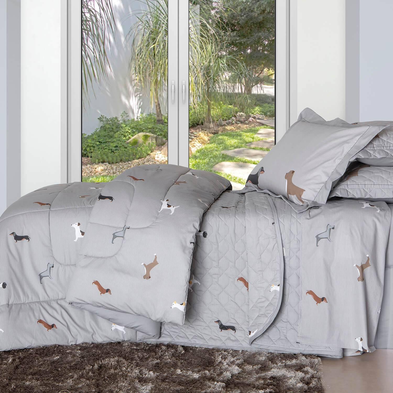Kit Cobre leito Infantil Solteiro Percal 200 Fios Acetinado Lilo + 1 Porta Travesseiro - Vida Bela Kacyumara
