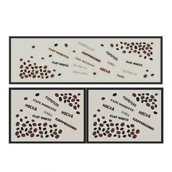 Kit Tapetes Cafe Jojo Decore Antiderrapante 1,60 x 50 - Kacyumara