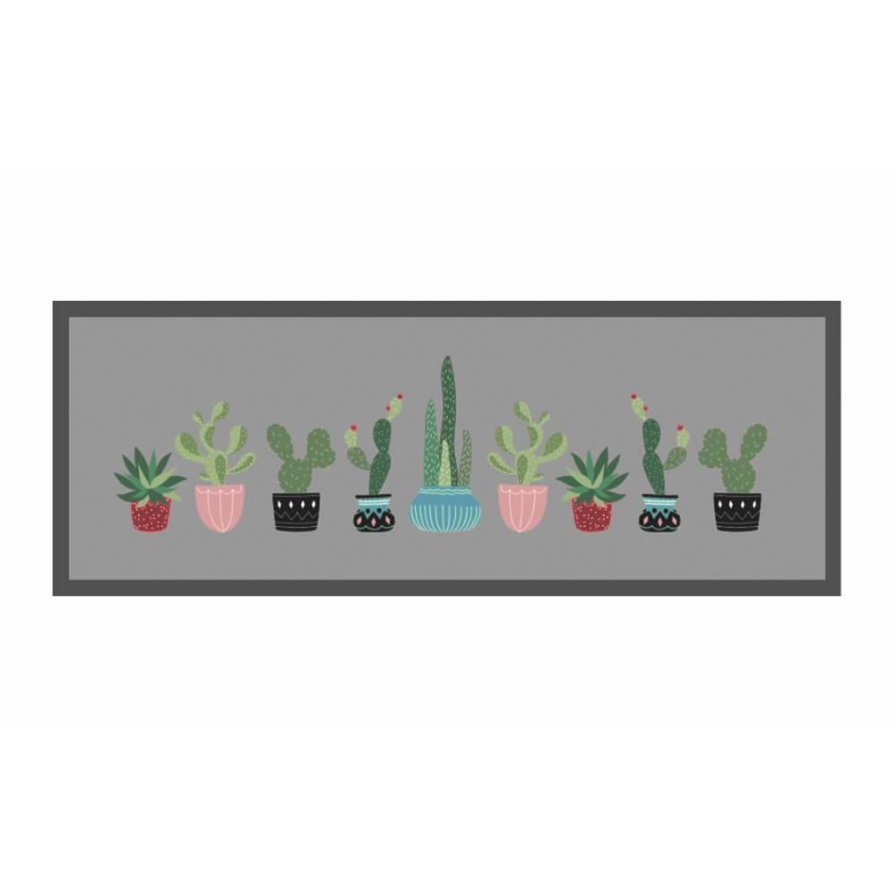 Passadeira Kacyumara 45cm x 1,20m Decore Antiderrapante - Cactus Rei