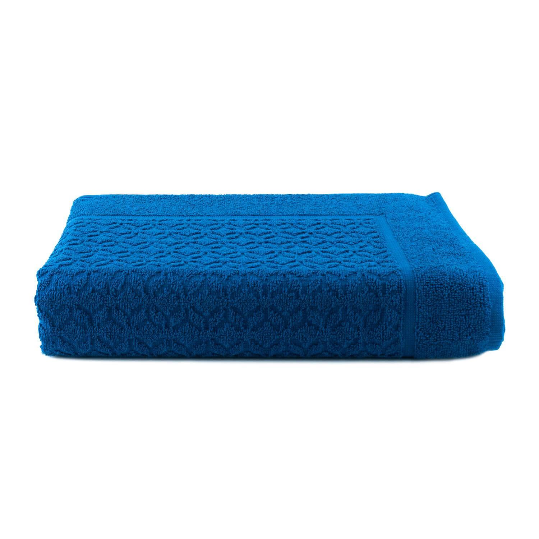 Piso Atoalhado Jacquard Azul - Dianneli