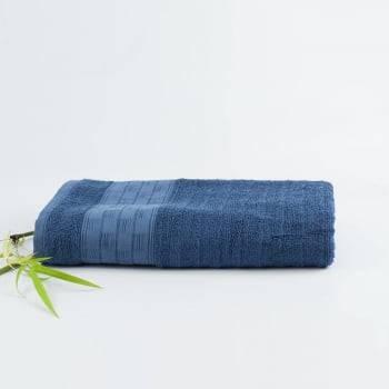 Jogo de Banho Jacquard Fibra de Bamboo Azul Escuro - LM