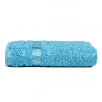 Jogo de Toalhas Banho 4 Peças Luiza - Azul Claro