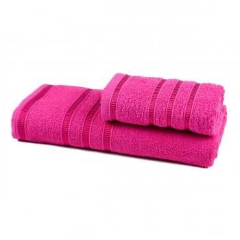Jogo de Toalhas Banho Hanna 2 peças Pink