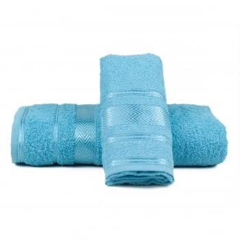 Jogo de Toalhas Banho Luiza Azul Claro