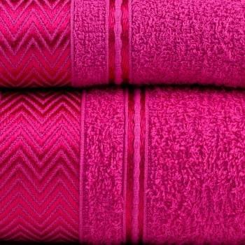 Jogo de Toalhas Banho Luiza Pink