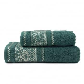Jogo Toalhas de Banho Imperial Vintage 2 Peças Jacquard Verde - Atlântica