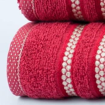 Jogo Toalhas de Banho Vermelho 2 Peças Princess 100% algodão - LM