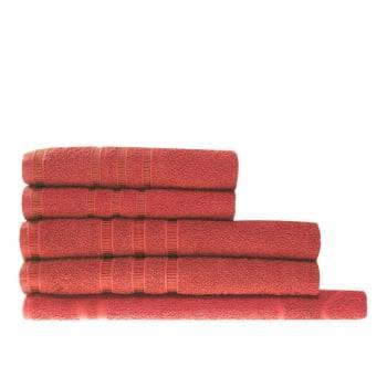 Jogo Toalhas Vermelho 5 Peças 100% algodão - Hanna