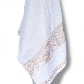 Jogo Toalhas de Banho 4 Peças Ohana 100% algodão  Branco