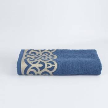 Toalha Banho Jacquard Azul Donatella 100% algodão - LM