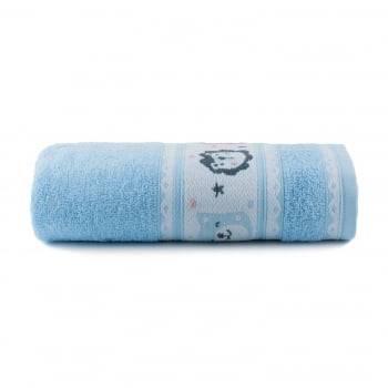 Toalha de Banho Infantil Puppy Azul - Dianneli