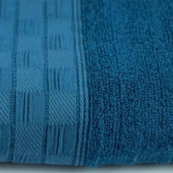 Toalha de Banho Jacquard Fibra de Bamboo Azul Marinho - LM