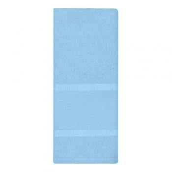 Toalha Lavabo Luíza com Barra para Pintura  Azul Claro