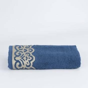 Toalha Rosto Jacquard Azul Donatella 100% algodão - LM