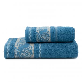 Toalhas de Banho Jacquard Aflorá Jogo com 2 Peças  Azul - Atlântica