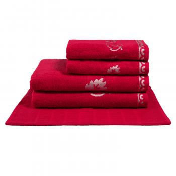 Jogo de Toalhas 5 peças 100% algodão Veneza - Vermelho