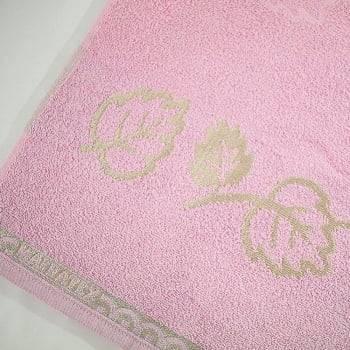 Toalha Banhão em Algodão Veneza 155 x 76 cm - Rosa