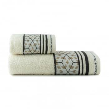 Toalhas de Banho Horus Jogo com 2 Peças Off White - Dianneli