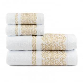Toalhas de Banho Imperiale Jogo com 4 Peças Branco - Dianneli