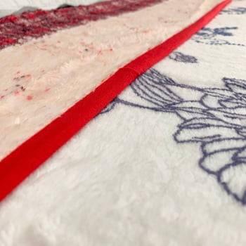 Cobertor Raschel Casal Estampado Faixa Xadrez