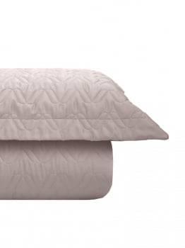 Kit Cobre leito King 300 Fios Acetinado Liso Rose + 2 Porta Travesseiros - Satinee Kacyumara