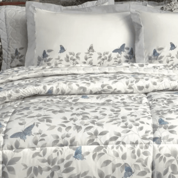 Kit Cobre leito Solteiro Percal 200 Fios Acetinado Martina + 1 Porta Travesseiros - Vida Bela Kacyumara