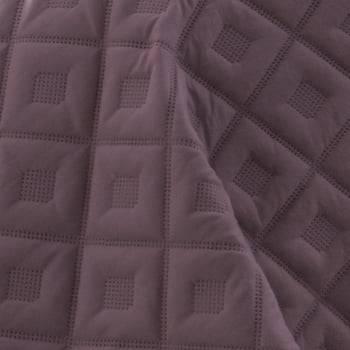 Kit 1 Colcha Casal Boutis Microfibra Ultrasonic + 2 Porta-Travesseiros Violeta