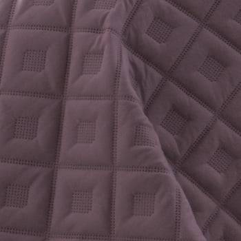 Kit 1 Colcha Queen Boutis Microfibra Ultrasonic + 2 Porta-Travesseiros Violeta