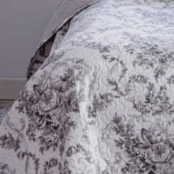 Kit  Cobre-leito Casal Bouti Microfibra Ultrasonic Estampada 2,20 x 2,40 m + 2 Porta-travesseiros - Elizabeth