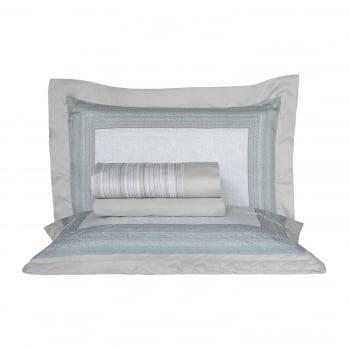 Kit Cobre-leito Casal Percal 300 Fios Acetinado Dumon + 2 Porta Travesseiros - Satinee Kacyumara