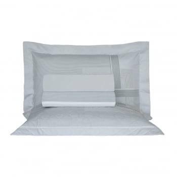 Kit Cobre leito Queen Percal 200 Fios Acetinado Benit + 2 Porta Travesseiros - Vida Bela Kacyumara