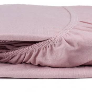 Lençol com Elástico Queen 1,60m x 2,00m x 30cm Fio 30/1 Penteado Rosé - Atlântica