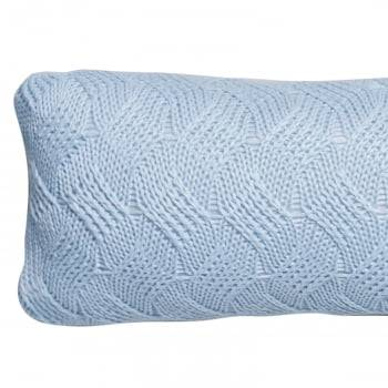 Almofada Baguete Tricot Cestaria Azul 20cm x 50cm