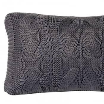 Almofada Baguete Tricot Trança Rosca Chumbo 20cm x 50cm