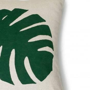 Capa de Almofada Artesanal 40cm x 40cm Folha
