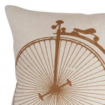 Capa de Almofada Artesanal 40cm x 40cm Old Bicycle
