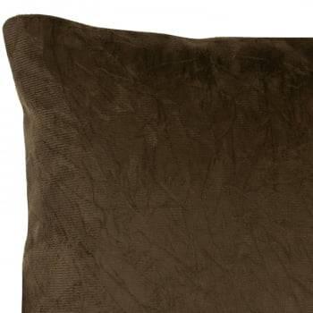 Capa de Almofada Suede Liso Marrom 45cm x 45cm